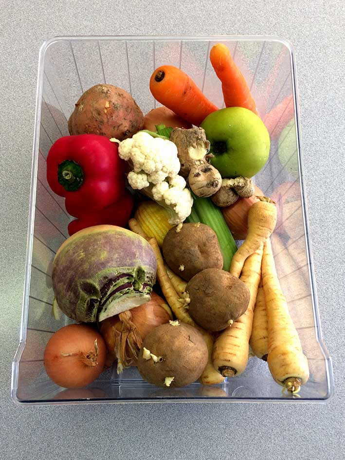 Fridge vegetable drawer