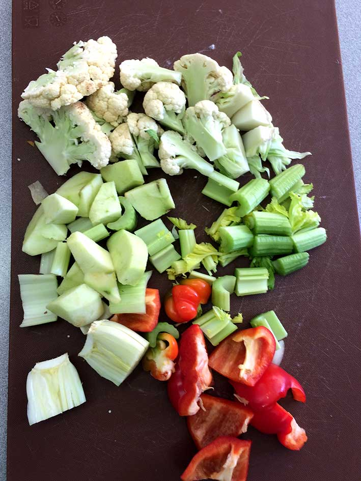 other chopped vegetables